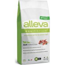 ALLEVA® Equilibrium Sensitive Lamb & Ocean Fish Medium/Maxi - пълноценна храна за пораснали кучета над една година, от средни и едри породи, Италия - 12 кг P6012