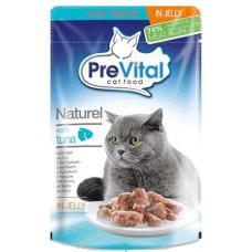 PREVITAL – пауч Риба тон в желе, деликатесна храна за израснали котки от всички породи, Унгария - 85 гр