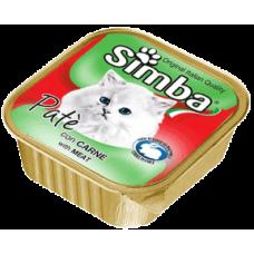 SIMBA – пастет с Телешко месо, Пълноценна храна за израснали котки от всички породи, Италия - 100 гр