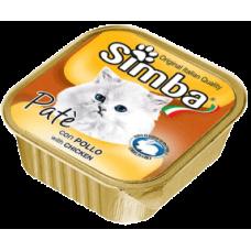 SIMBA – пастет с Пилешко месо, Пълноценна храна за израснали котки от всички породи, Италия - 100 гр