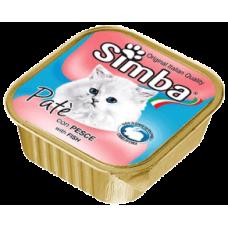 SIMBA – пастет с Риба, Пълноценна храна за израснали котки от всички породи, Италия - 100 гр