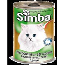 SIMBA – консерва с Месо от дивеч, Пълноценна храна за израснали котки от всички породи, Италия - 415 гр