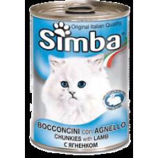 SIMBA – консерва с Агнешко месо, Пълноценна храна за израснали котки от всички породи, Италия - 415 гр