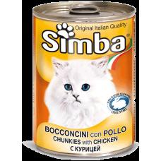 SIMBA – консерва с Пилешко месо, Пълноценна храна за израснали котки от всички породи, Италия - 415 гр