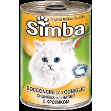 SIMBA – консерва с Заешко месо, Пълноценна храна за израснали котки от всички породи, Италия - 415 гр
