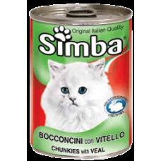 SIMBA – консерва с Телешко месо, Пълноценна храна за израснали котки от всички породи, Италия - 415 гр