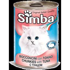 SIMBA – консерва с Риба тон, Пълноценна храна за израснали котки от всички породи, Италия - 415 гр