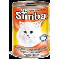SIMBA – консерва с Пуешко и гъше месо, Пълноценна храна за израснали котки от всички породи, Италия - 415 гр