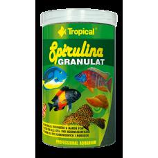 TROPICAL SPIRULINA GRANULAT храна на гранули с високо съдържание на Spirulina platensis