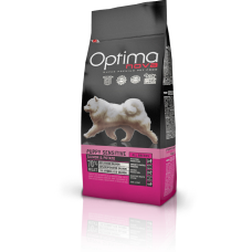OPTIMA NOVA PUPPY SENSITIVE SALMON&POTATO (сьмга и картофи) 70% месо GRAIN FREE, Хипоалергична, Суперпремуим храна за подрастващи кучета от всички породи 0,800 кг