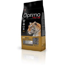 OPTIMA CAT ADULT CHICKEN & POTATO (пиле и картофи) 75% месо GRAIN FREE, Хипоалергична, Суперпремуим храна за СРЕДНО АКТИВНИ котки от всички породи 0,400 кг
