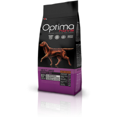 OPTIMA NOVA ADULT LARGE BREED CHICKEN&RICE (пиле и ориз) 65% месо GRAIN FREE, Хипоалергична, Суперпремуим храна за кучета над 15 месеца 12 кг