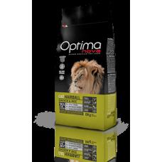 OPTIMA CAT Hairball Chicken&Rise (пиле и ориз) 75% месо Хипоалергична, Суперпремуим храна за котки от всички породи срещу КОСМЕНИТЕ ТОПКИ 0,400 кг