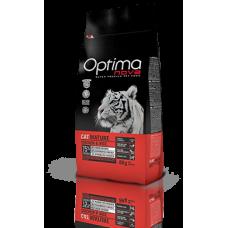 OPTIMA CAT Mature Chicken&Rise (пиле и ориз) 75% месо Хипоалергична, Суперпремуим храна за ВЪЗРАСТНИ котки от всички породи над 7 години 0,400 кг