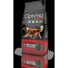 OPTIMA NOVA ADULT ACTIVE CHICKEN&RICE (пиле и ориз) 65% месо GRAIN FREE, Хипоалергична, Суперпремуим храна за АКТИВНИ кучета от всички породи 12 кг