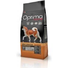 OPTIMA NOVA ADULT SENSITIVE SALMON&POTATO (сьмга и картофи) 70% месо GRAIN FREE, Хипоалергична, Суперпремуим храна за пораснали кучета от всички породи 0,800 кг