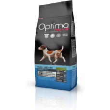 OPTIMA NOVA PUPPY MEDIUM CHICKEN & RICE (пиле и ориз) 65% месо GRAIN FREE, Хипоалергична, Суперпремуим храна за кучета от 2 до 12 месеца 12 кг