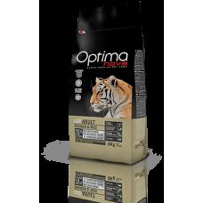 OPTIMA CAT Adult Chicken&Rise (пиле и ориз) 75% месо Хипоалергична, Суперпремуим храна за СРЕДНО АКТИВНИ котки от всички породи 0,400 кг