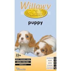 Willowy Gold Puppy - супер премиум храна за подрастващи кученца от всички породи, до 1 година, с пилешко и агнешко месо, Испания - 15 кг