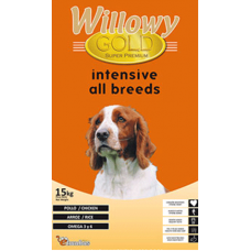 Willowy Gold Energy - супер премиум храна за кучета от всички породи, над 1 година, с пилешко месо, Испания - 15 кг